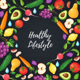 Healthy eating poster Royalty Free Stock Photos