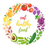 Healthy eating poster Stock Images