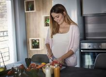 Healthy eating during pregnancy is critical to your baby`s growth stock photo
