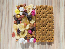Healthy Eating. Proper nutrition fitness dried fruits Royalty Free Stock Photos