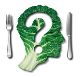 Healthy Eating question Royalty Free Stock Photography