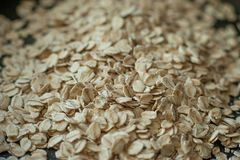 Healthy eating. raw oat flakes. Food. macro view. selective focus background stock photos