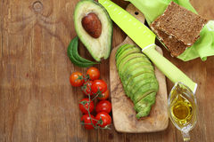 Healthy eating - ripe avocado Stock Photography