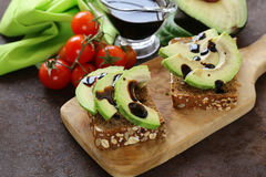 Healthy eating - ripe avocado Royalty Free Stock Images