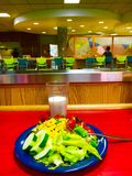 Healthy Eating. Healthy salad on a lunch counter at a cafeteria Royalty Free Stock Image