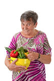 Healthy eating for seniors Royalty Free Stock Photography