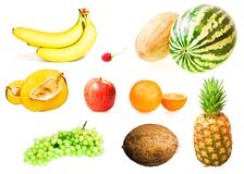 Healthy eating set Royalty Free Stock Images