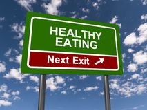 Healthy eating sign Stock Photography