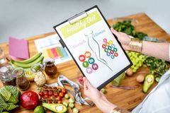 Healthy eating for slimming concept stock image