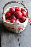 Healthy eating tag and Apples. Royalty Free Stock Image