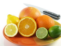 Healthy eating - tropical fruits for breakfast Royalty Free Stock Photo