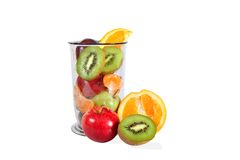 Healthy eating. Various fruit in the blender jar. Stock Photography