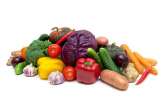 Healthy Eating: Vegetables on a white background. Stock Image