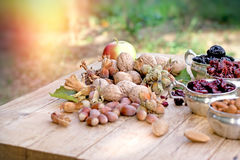 Healthy eating - healthy vegetarian food. Fresh organic fruits seasonal fruit Royalty Free Stock Photography