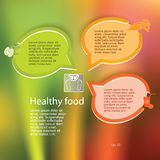 Healthy-eating-and-weight-loss-concept-layout-leaflets Royalty Free Stock Photography