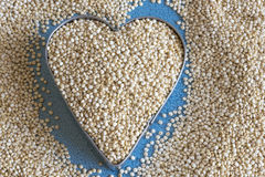 Healthy eating: white quinoa seeds. Stock Photo