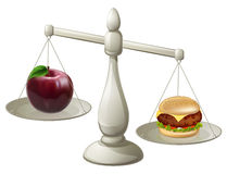 Healthy eating willpower concept Stock Photos