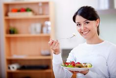 Healthy eating woman Stock Images
