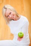 Healthy eating woman Royalty Free Stock Images