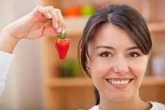 Healthy eating woman Royalty Free Stock Image