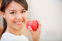 Healthy eating woman Stock Image