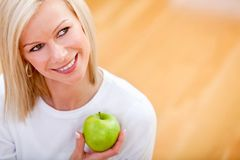 Healthy eating woman Royalty Free Stock Photo