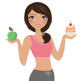 Healthy eating woman Royalty Free Stock Photos