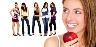 Healthy eating women Royalty Free Stock Images
