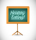 Healthy eating wood presentation board Royalty Free Stock Image
