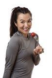Healthy eatting woman Stock Image