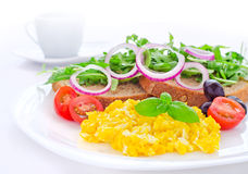 Healthy egg breakfast Royalty Free Stock Image