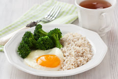 Healthy egg breakfast Stock Image