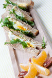 Healthy Egg Sandwich For Lunch Royalty Free Stock Photo