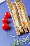 Healthy egg sandwich for lunch Stock Photos