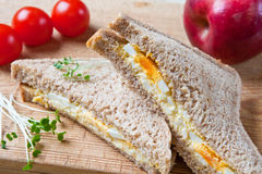 Healthy egg sandwich for lunch Royalty Free Stock Photos