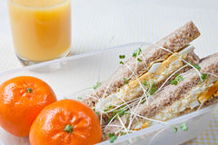 Healthy egg sandwich for lunch Royalty Free Stock Photography