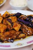 Healthy eggplant delicacy. Healthy and nutritious vegetarian eggplant delicacy royalty free stock photos