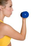 Healthy Exercising Woman Stock Photo