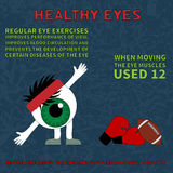 Healthy eye. Information about the benefits of gymnastics for the eyes Stock Image