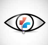 healthy eyes concept illustration design isolated Royalty Free Stock Images