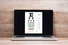 Healthy eyes. Eye chart and medicine Stock Photos