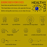 Healthy eyes. Infographics. Stock Photography