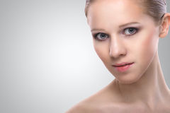 Healthy face of beauty  young woman Royalty Free Stock Images