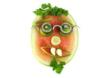 Healthy face with glasses, isolated Stock Images