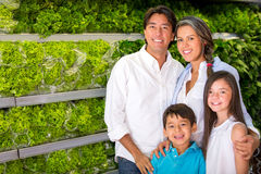 Healthy family buying groceries Stock Image