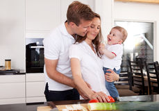 Healthy Family at Home Royalty Free Stock Images