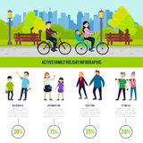 Healthy Family Infographic Concept Royalty Free Stock Photos