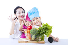 Healthy family - isolated Royalty Free Stock Images