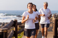 Healthy family jogging Stock Images
