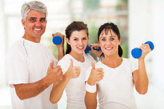 Healthy family thumbs up Royalty Free Stock Photo